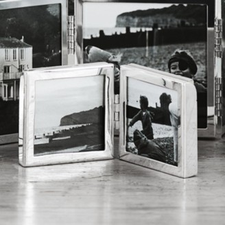 """The White Company Fine Silver Mini Hinged Photo Frame 2x2"""", Silver, One Size"""