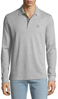 Burberry Men's Hartford Long-Sleeve Polo Shirt