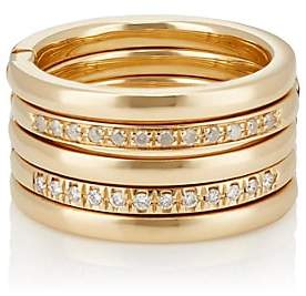 "Roberto Marroni Women's ""Swing Open Up"" Hinged 5-Band Ring - Gold"