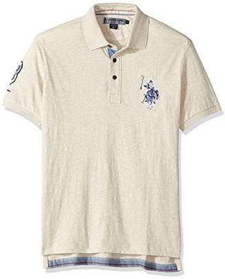 U.S. Polo Assn. Men's Slim Fit Solid Short Sleeve Jersey Polo Shirt