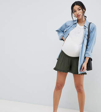 Asos (エイソス) - ASOS Maternity ASOS DESIGN Maternity shorts with frill hem