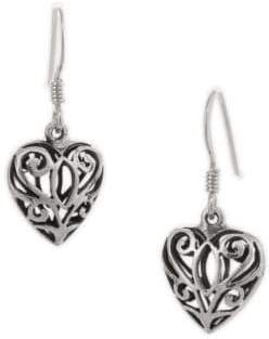 Celtic Serpentina Silver Heart Earrings