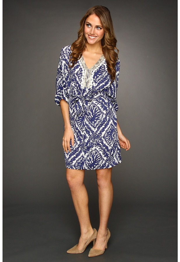 Lilly Pulitzer Wilda Tunic Dress (Bright Navy Reef Madness) - Apparel
