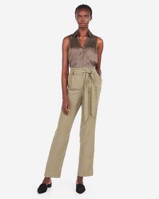 Express Satin Slim Fit Sleeveless Portofino Shirt