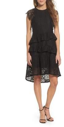 Foxiedox Ruffle Lace High/Low dress