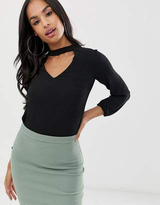 Jessica Wright choker neck blouse