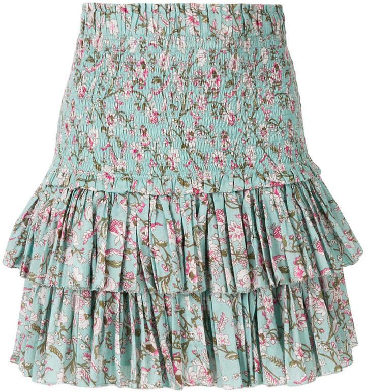 Naomi ruffle floral print skirt
