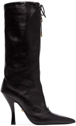 Versace mid-calf zip boots