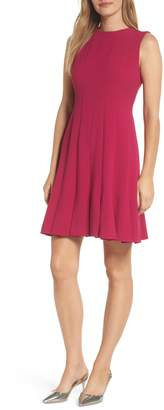 Julia Jordan Sleeveless Pleat Panel Fit & Flare Dress