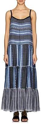 Lemlem Women's Lucy Folkloric-Striped Cotton-Wool Maxi Dress