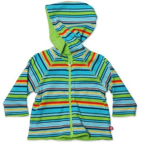 Zutano Baby-boys Infant Multi Stripe Reversible Zip Hoodie