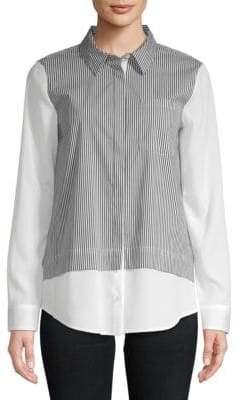 Calvin Klein Striped Button-Down Shirt