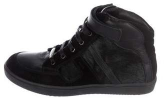 Christian Dior Girls' Ponyhair High-Top Sneakers