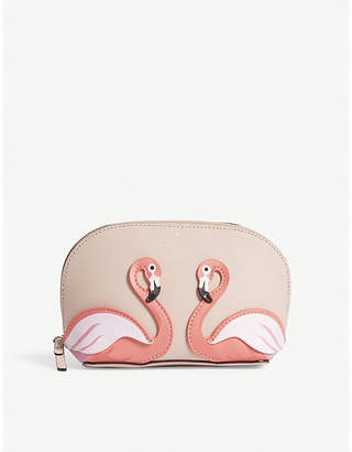 Kate Spade By The Pool Abalene small Saffiano leather make-up bag