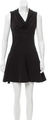 Cushnie et Ochs Cowl Neck A-Line Dress