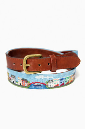 Smathers and Branson Exclusive Georgetown Scene Needlepoint Belt
