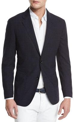 Ermenegildo Zegna Soft Check Two-Button Sport Coat, Navy Check $1,995 thestylecure.com