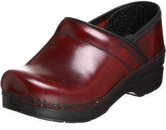 Dansko Women's Professional Pro Cabrio Leather Clog,Black