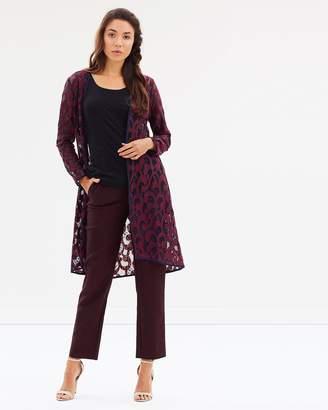 Rosette Cutaway Collarless Coat
