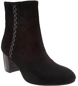 Earth Block Heeled Ankle Boots - Sparta