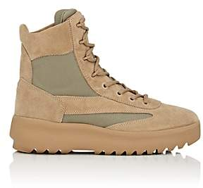 Yeezy Men's Suede & Nylon Military Boots - Sand