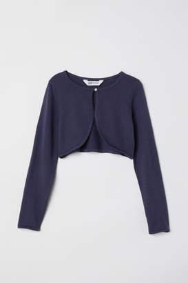 H&M Fine-knit Bolero - Blue