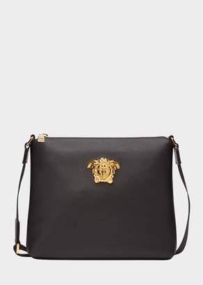 Versace Medusa Head Leather Messenger Bag