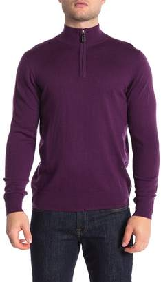 Tailorbyrd Wool Blend Quarter Zip Pullover