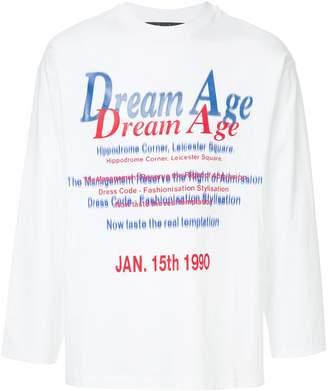 Martine Rose text-print long sleeve T-shirt