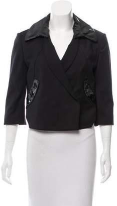 Dolce & Gabbana Tailored Leather-Trimmed Blazer