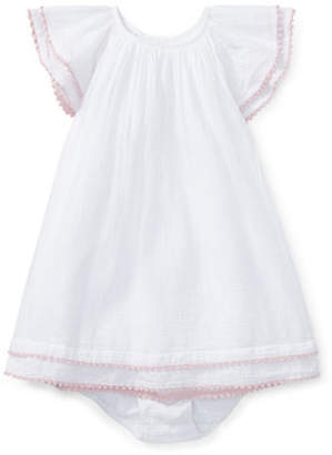 Ralph Lauren Two-Piece Pom-Pom Trimmed Dress and Bloomers Set