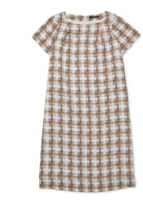 NEWYORKER women's チェックプリント 半袖ワンピース(大きめサイズ)