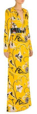 Emilio Pucci Belted Long Dress