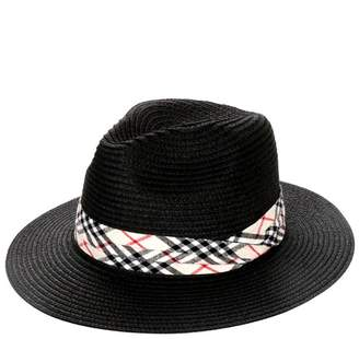 Wona Trading Plaid Straw Sun-Hat