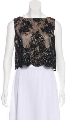 Alice + Olivia Lace Sleeveless Top