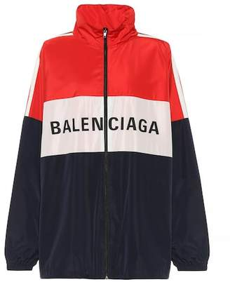 Balenciaga Technical fabric track jacket