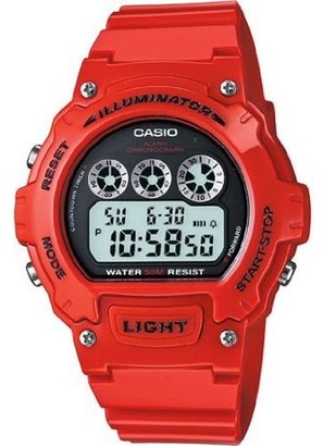 Casio Men's Digital Watch, Red Glossy Resin Strap