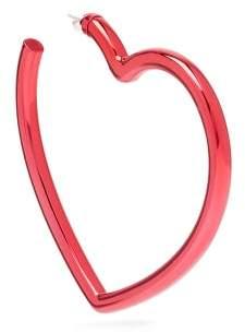 Balenciaga Oversized Heart Shaped Single Earring - Womens - Red