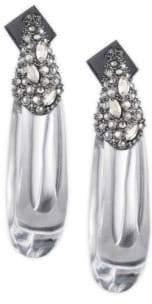 Alexis Bittar Vanitas Crystal Encrusted Capped Hoop Earrings