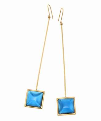 Journal Standard (ジャーナル スタンダード) - JOURNAL STANDARD L'ESSAGE The Q jewelry Mono Earring Blue Square:ピアス