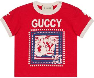 Gucci Kids Baby T-shirt with Guccy print