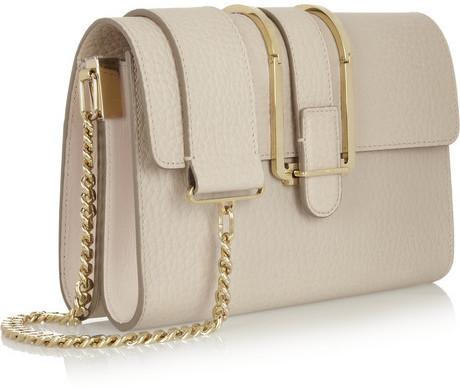 Chloé Bronte textured-leather shoulder bag