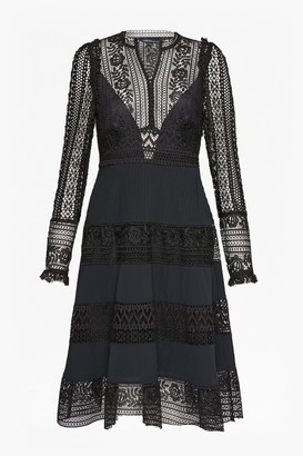 French Connection Orabelle Flared Lace Dress
