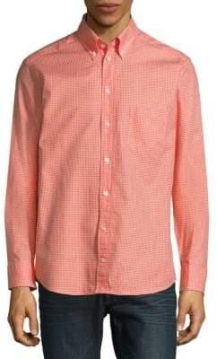 Eton Gingham Long Sleeve Casual Button-Down Shirt