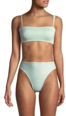 L-Space LSpace Rebel Ribbed Bikini Top