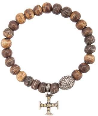 Loree Rodkin bone bead cross bracelet