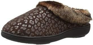 Isotoner Women's Cheetah Microsuede Faux Fur