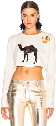 ATTICO Safari Embroidered Crop Top