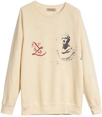 Burberry Portrait and Logo Print Cotton Sweatshirt