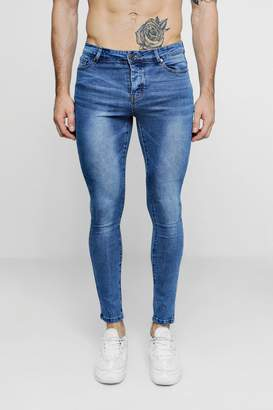 boohoo Super Skinny Mid Blue Denim Jeans